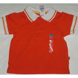 NWT Children's Place Orange Baby Boy Polo Shirt
